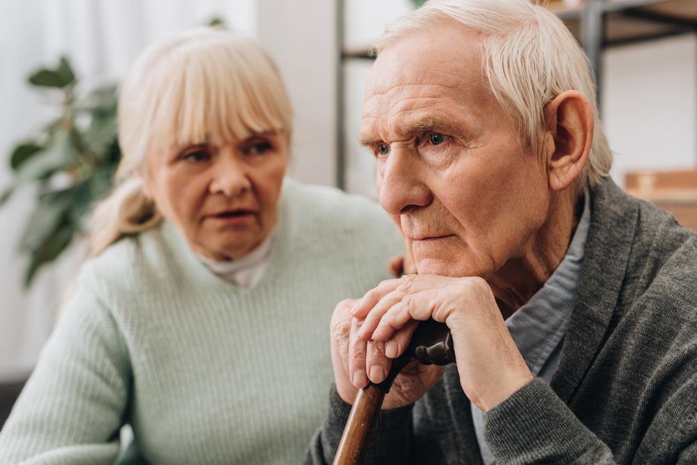 Demenz mit Angstzuständen bei Senioren in Verbindung gebracht