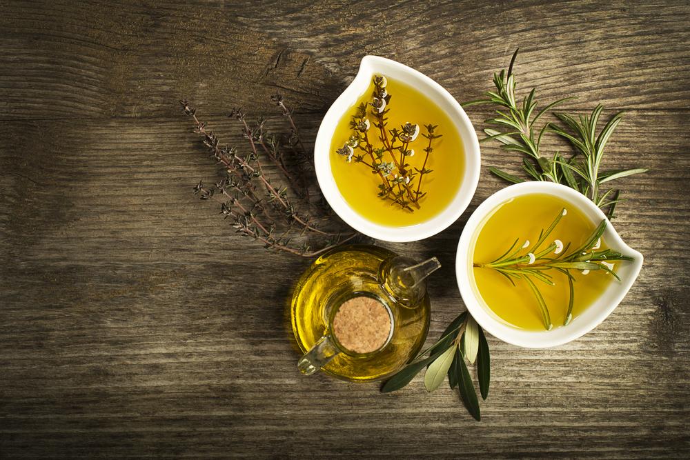 Thymian und Olivenöl